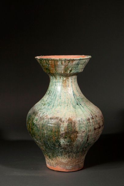 Vase de forme Hu enterre cuite à glaçure...