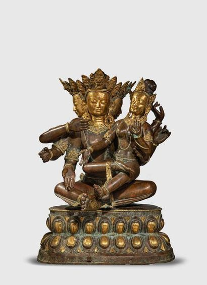 Uma Mahesvara illustrant Shiva