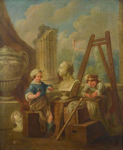 École française du XVIIIe siècle, suiveur...