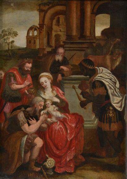 École anversoise vers 1600. Adoration des...