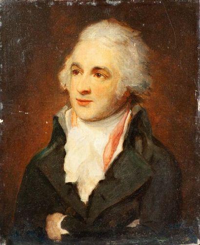 École anglaise du XIXe siècle. Portrait d'homme...