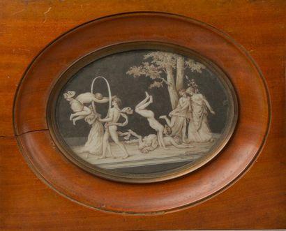 DECOURCELLE (XIXe siècle). Scène de jeux...