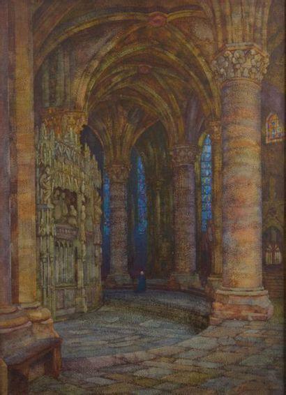 Pierre-Anne DUMENIL (1862-?). L'abside de...