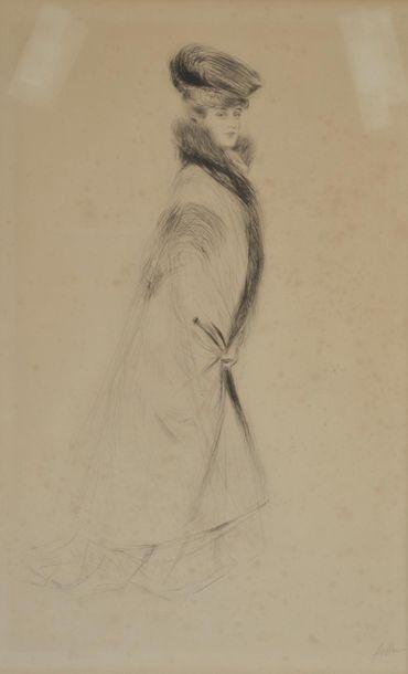 Paul-César HELLEU (1859-1927). Madame Chéruit...