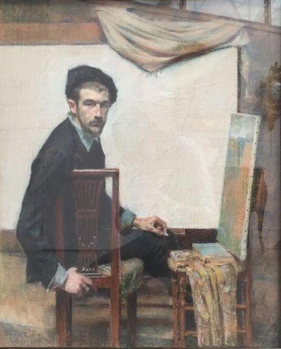 Maurice ELIOT (1862-1945). Autoportrait....