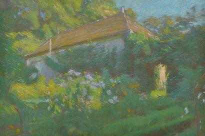 Attribué à Maurice ELIOT (1862-1945). Maison...