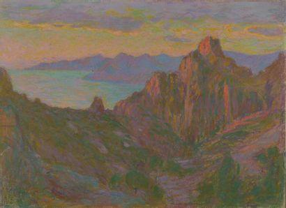 Maurice ELIOT (1862-1945). Paysage de bord...