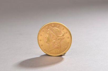 Pièce en or de 20 dollars américains,
