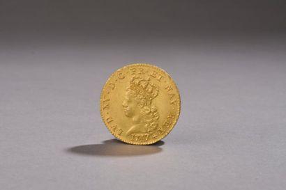 LOUIS XV (1715 - 1774). Tête jeune du roi...