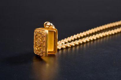 Chaîne en or jaune 18k à maillons circulaires...