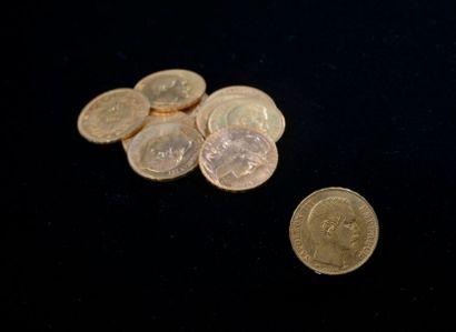 Ensemble de 10 pièces d'or comprenant : -...