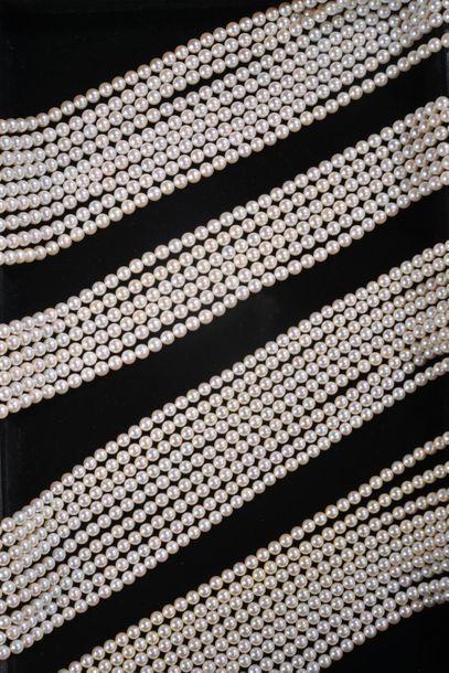 *Ensemble de perles de culture comprenant...