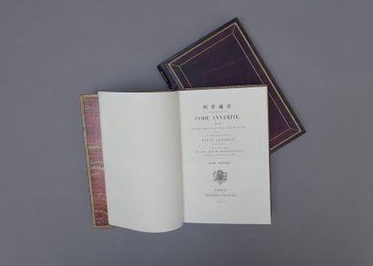 1865. Aubaret, G.  Code Annamite  Lois et...