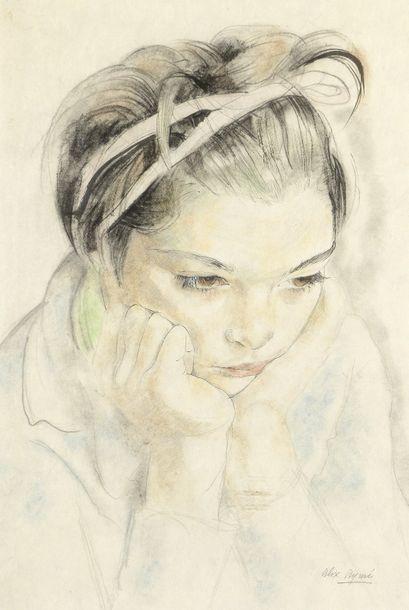 Alix AYMÉ (1894-1989). Portrait d'enfant...