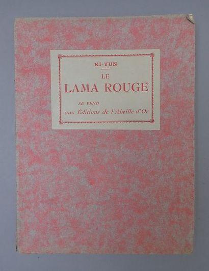 1920.  Ki-Yun. Le Lama rouge. Livre broché...