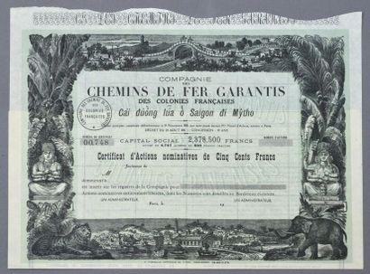 COMPAGNIE DES CHEMINS DE FER GARANTIS DES...