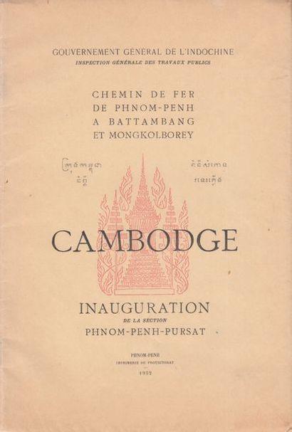 1932. Cambodge. Chemin de fer de Phnom-Penh...