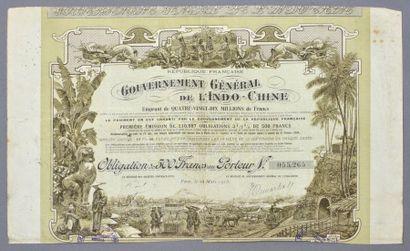 GOUVERNEMENT GENERAL DE L'INDOCHINE    Lot...