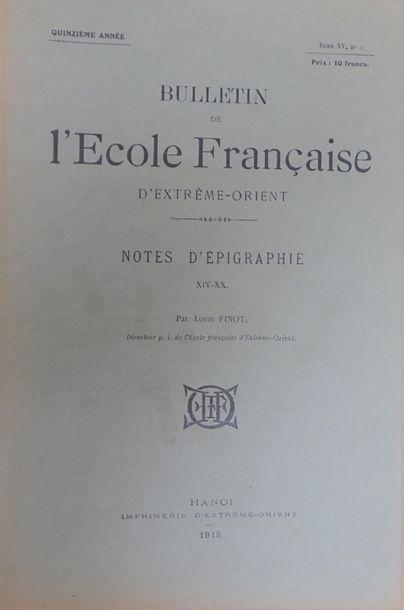 1914. Un ensemble de six exemplaires brochés...