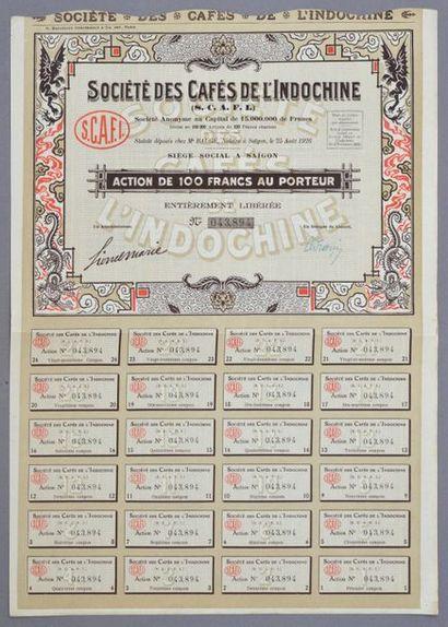 LOTS DE TITRES INDOCHINOIS    Bel Ensemble...