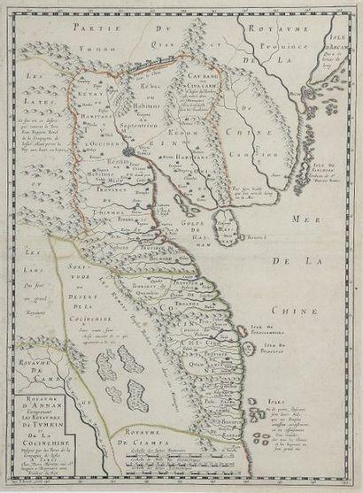 1653. Alexandre de Rhodes (1591-1660)  Carte...