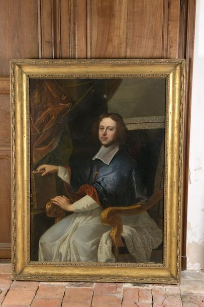Hyacinthe RIGAUD (1659-1743), entourage de Portrait d'un évêque Huile sur toile...