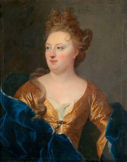 François DE TROY (Toulouse, 1645 – Paris, 1730), attribué à Portrait de femme en...