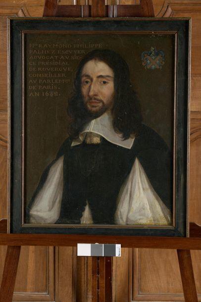 École française du XVIIe siècle Portrait de Raymond Philippe Palhez, écuyer, avocat...