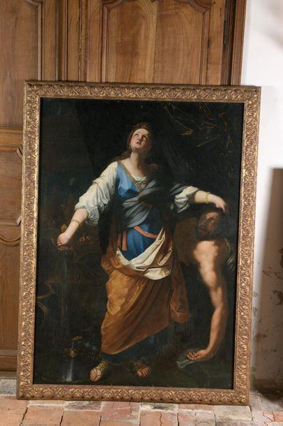 École napolitaine du XVIIe siècle Judith et Holopherne Huile sur toile (restaurations...