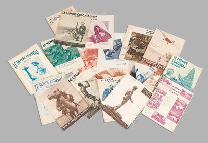 1927  Le monde Colonial illustré.  Un ensemble...