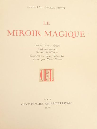 [CHINE]  1932  Lucie Paul-Margueritte, Wang...