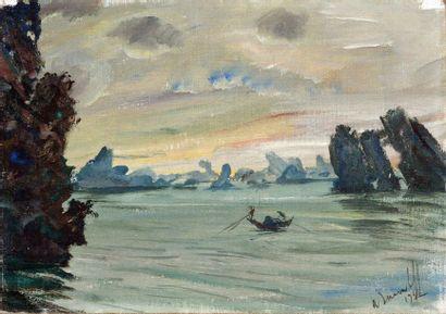Alexandre IACOVLEFF (1887-1938). Jonque sur...
