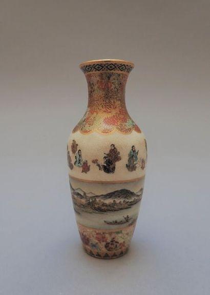 Petit vase en porcelaine Satsuma à décor...