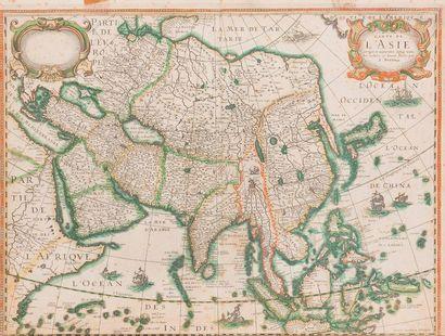 Une édition rare de la carte de l'Asie par...