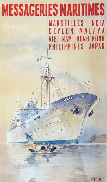 1958. Messageries maritimes. Marseilles-...