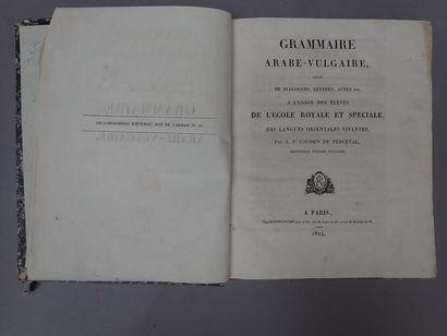 CAUSSIN DE PERCEVAL (Armand Pierre). Grammaire...