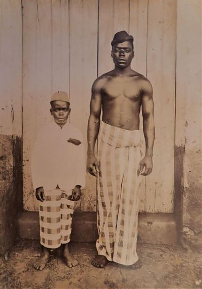1895. Dahomey, c. 1895.  Album in-4° oblong...