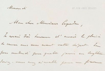 Lettres d'Henri d'Orléans situées à Djibouti...