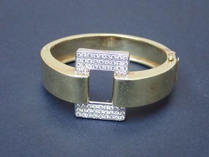 Bracelet jonc en or jaune 585°/00 au motif...