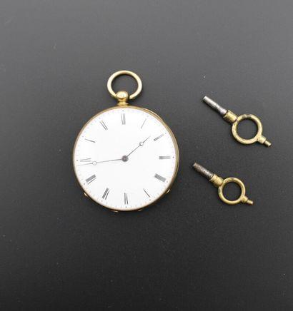 Une montre de poche en or 750°/°° (18K) à...