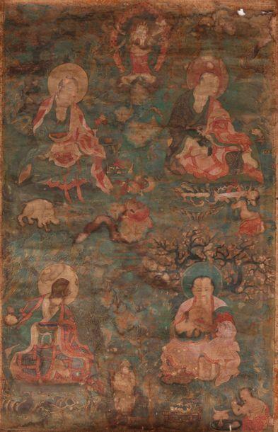 Tangka. Tibet, XVIIIe siècle. Détrempée sur...