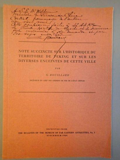 BOUILLARD (G.), Note succincte sur l'historique...