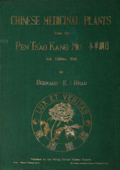 READ (Bernard E.), lot de 2 ouvrages:  Chinese...