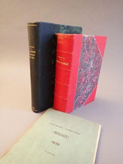 WIEGER (P. Léon), lot des 3 ouvrages :  La...