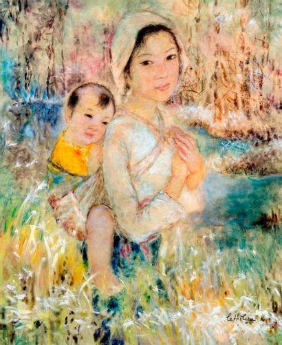 LÊ THI LUU (1911-1988)  Ecole des Beaux-Arts de l'Indochine. Promotion 1932.  La...