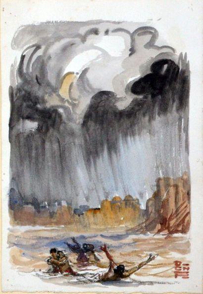 1947  BROMFIELD - FOUQUERAY.  La Mousson....