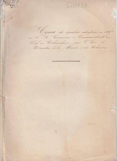 1867  Ensemble de documents manuscrits entre...
