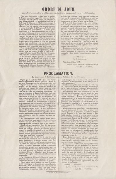 1867  Ordre du jour au corps expéditionnaire...
