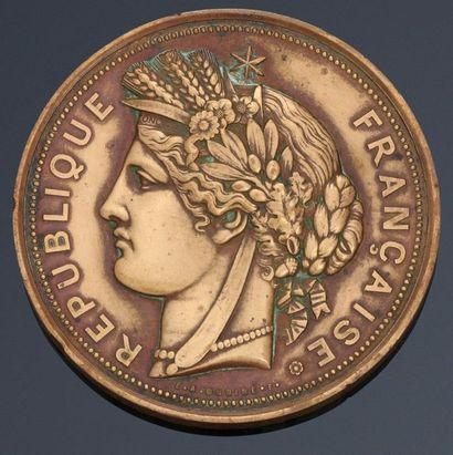 1887. Médaille en bronze de l'Exposition...