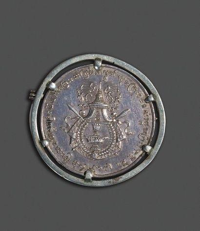 1905. Médaille en argent de S.M Sisowath...